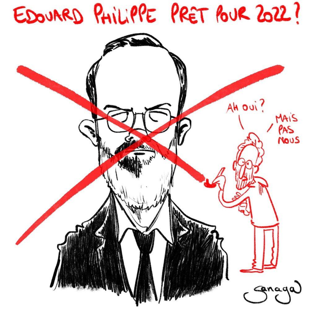 dessin presse humour Édouard Philippe image drôle présidentielle 2022 horizons