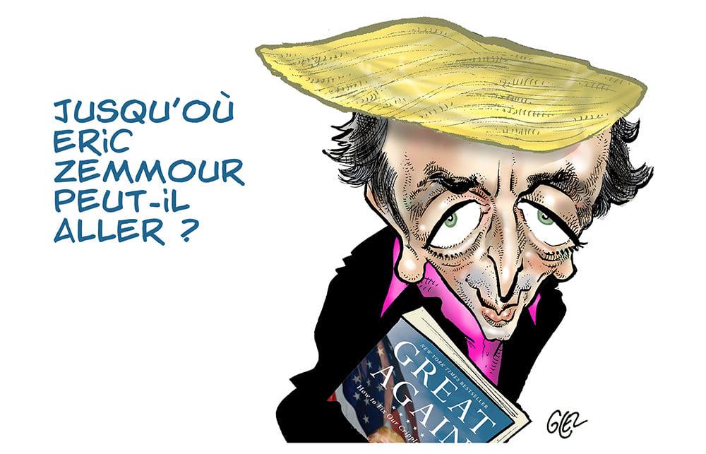 dessin presse humour Éric Zemmour image drôle présidentielle 2022 Donald Trump