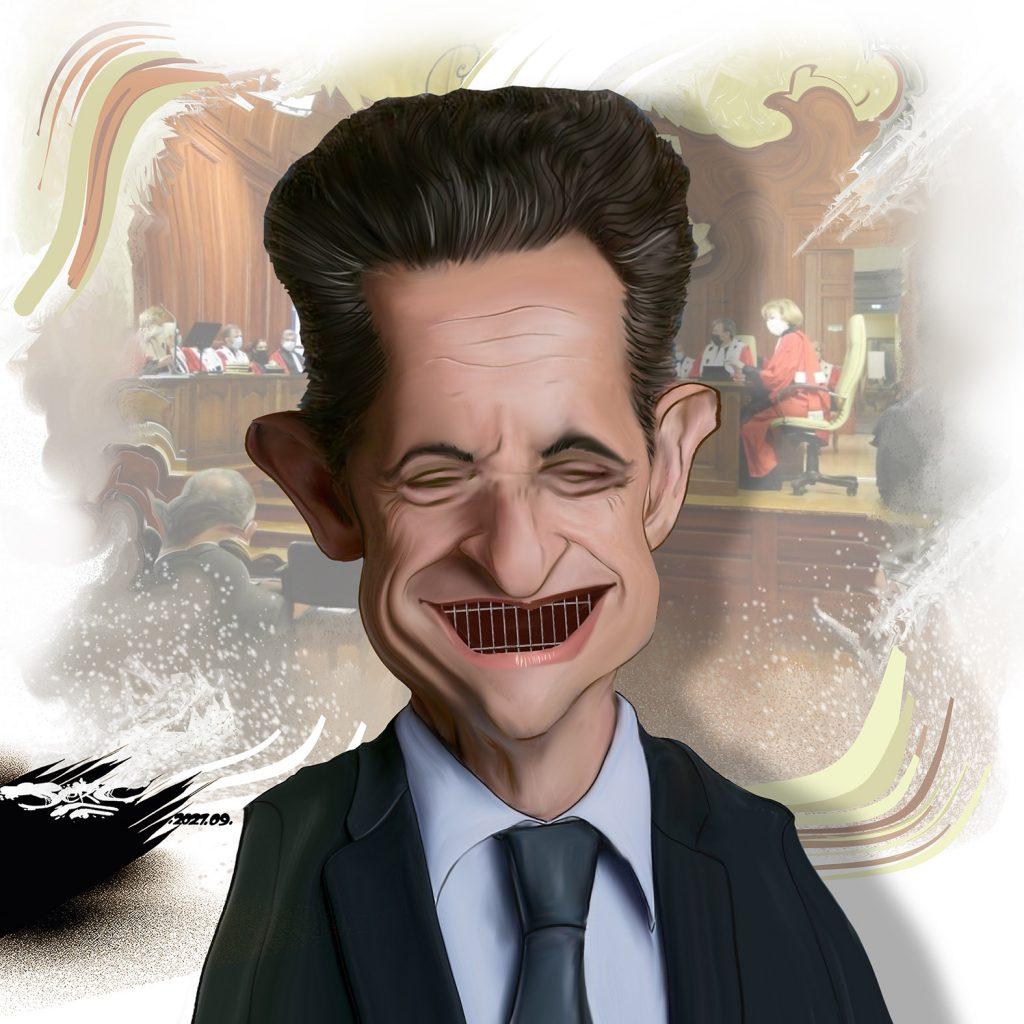 dessin presse humour Nicolas Sarkozy image drôle prison condamnation