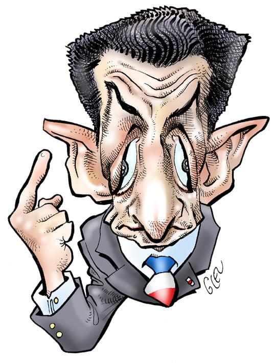 dessin presse humour Nicolas Sarkozy image drôle condamnation prison ferme