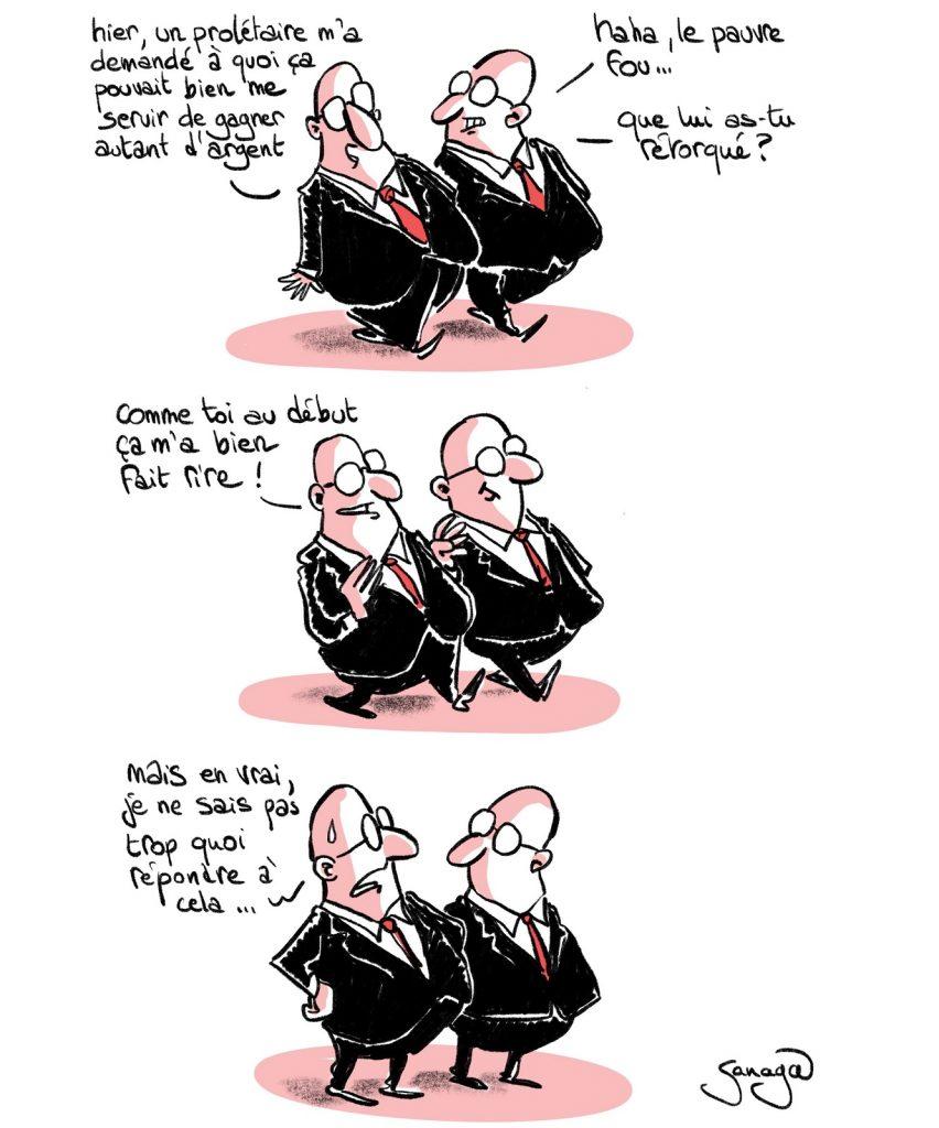dessin presse humour capitalistes fortune image drôle argent richesse