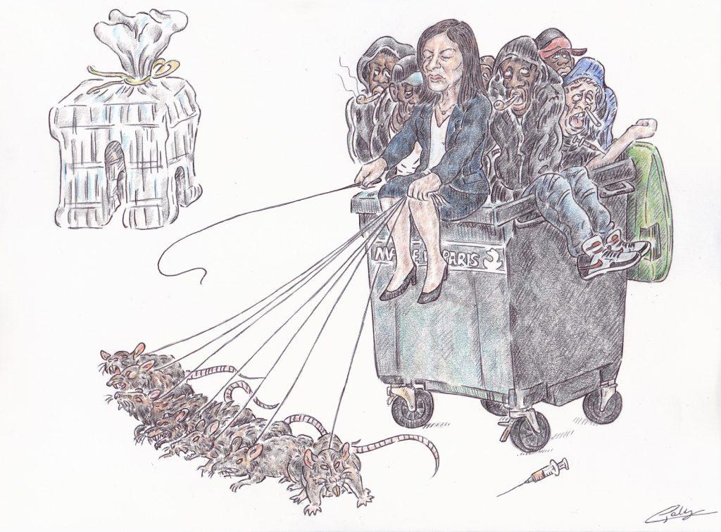 dessin presse humour Anne Hidalgo mairie Paris image drôle crack rats